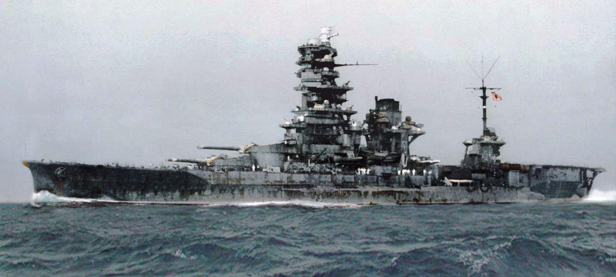 Ise class, IJN Hyuga during WW2