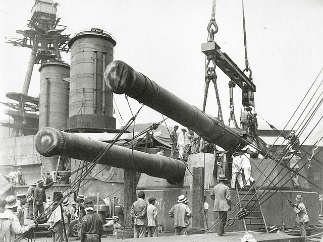 Fitting of the main artillery