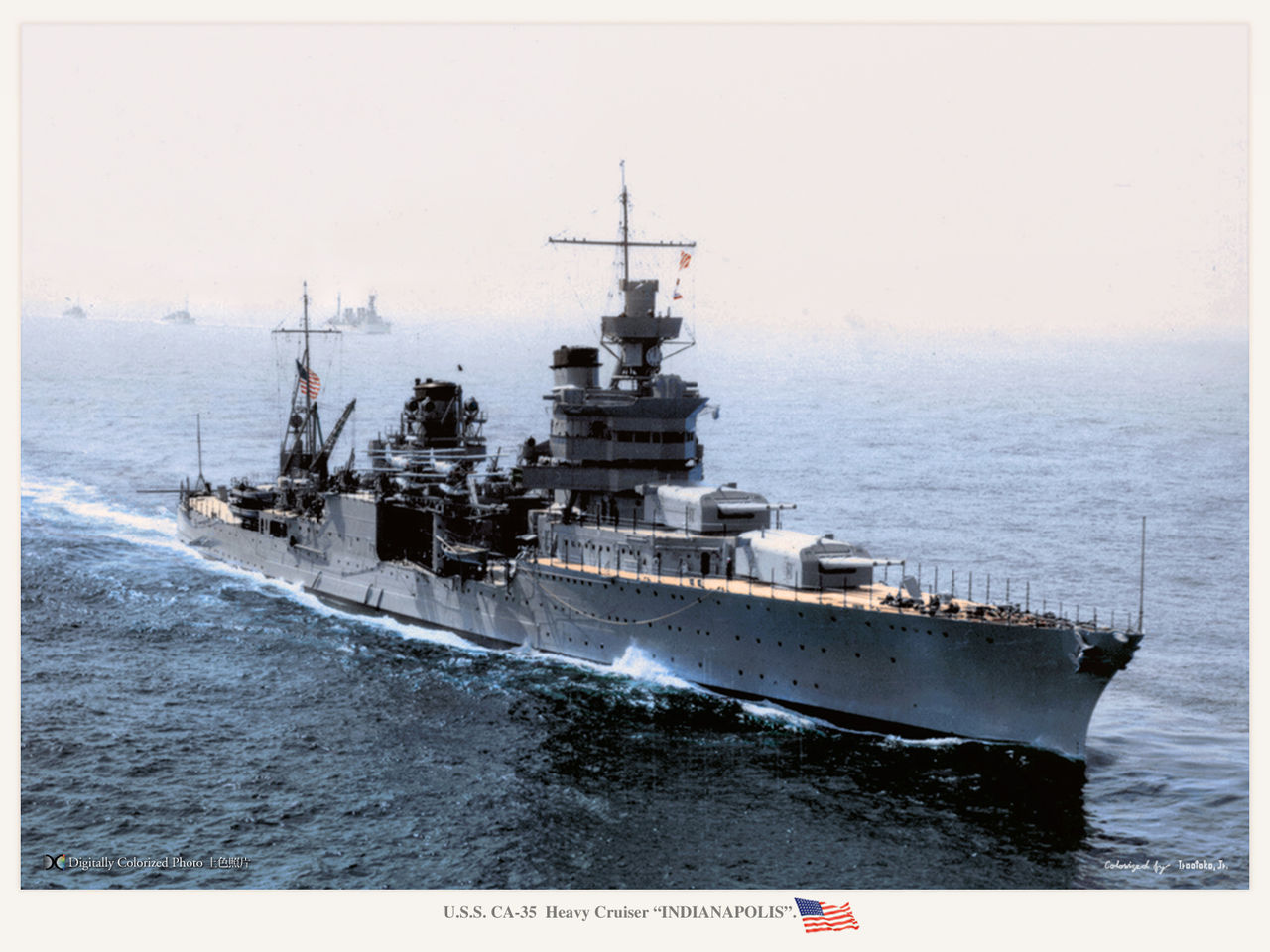 uss indianapolis colorized
