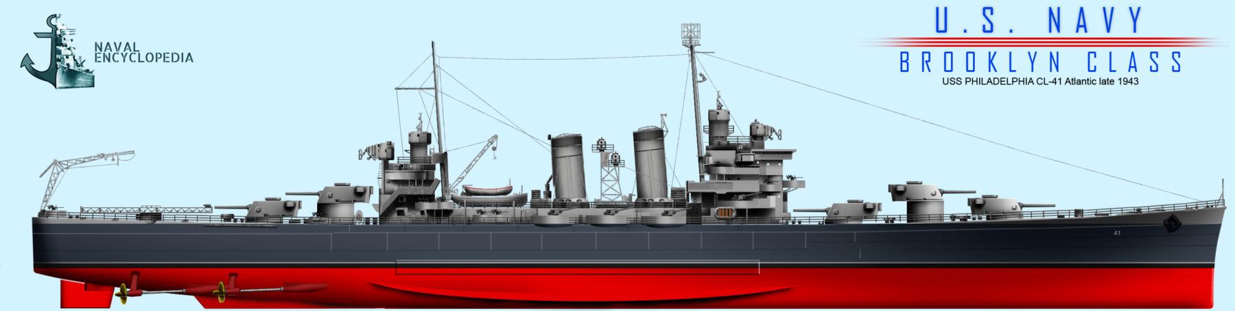 USS Philadelphia 1942