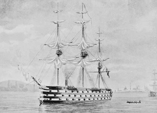 HMS Royal Georges by Charles Fitzgerald
