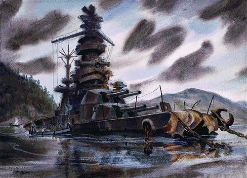 Ise as rebuilt 1944