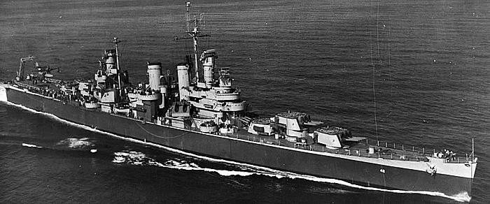 USS Savannah in 1944