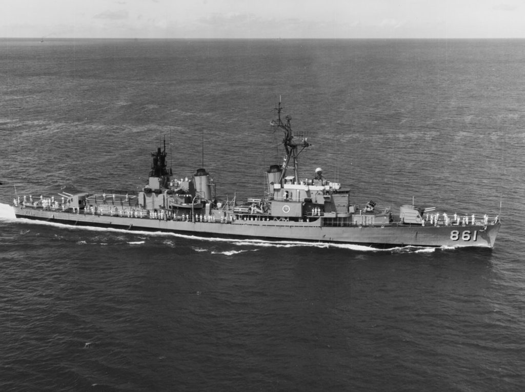 USS Harwood (DD-861) after FRAM II conversion in the 1960s