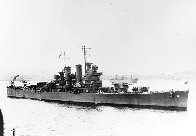 USS Helena in 1943