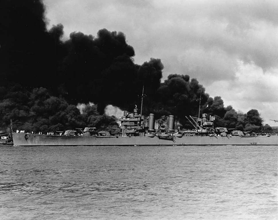 USS Phoenix at Pearl Harbor, 7 December 1941