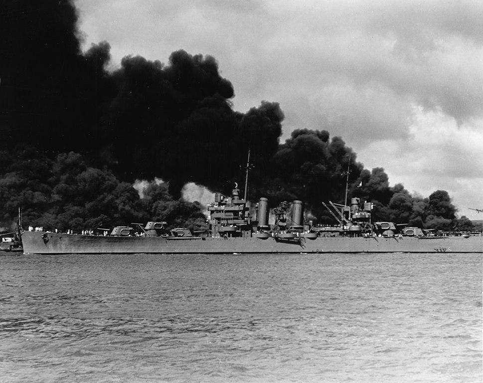 USS Phoenix at Pearl Harbor, 7 December 1941