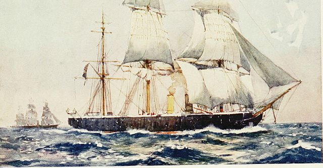 HMS Warrior in the 1870s
