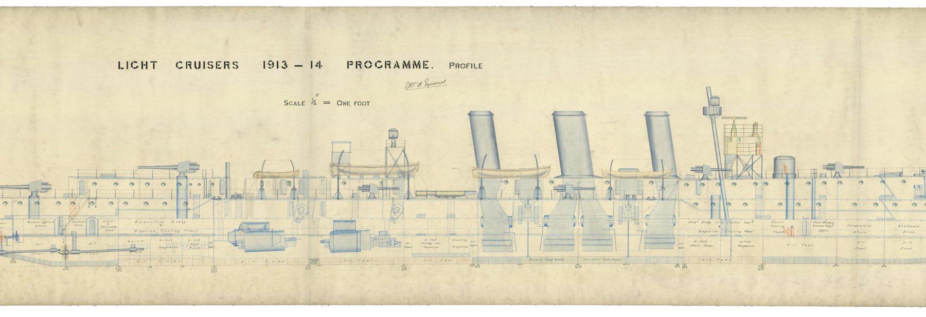 Detail-Blueprint-HMS-Caroline-class-NatMusGreewhichColl