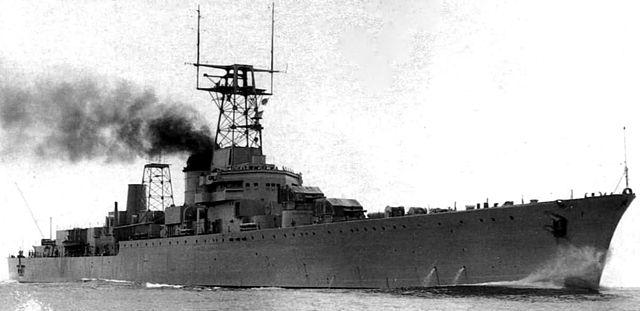 Garibaldi in 1960, after her second refit.