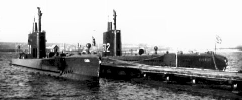 Giada and Vortice as training submarines