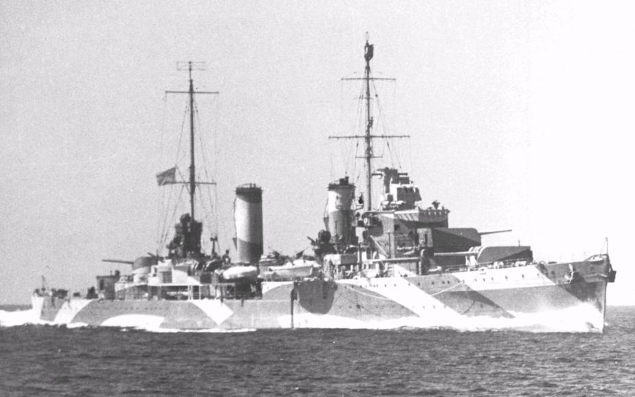 Perth underway in 1942
