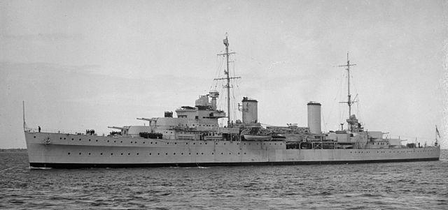 HMS Hobart in the late 1930s