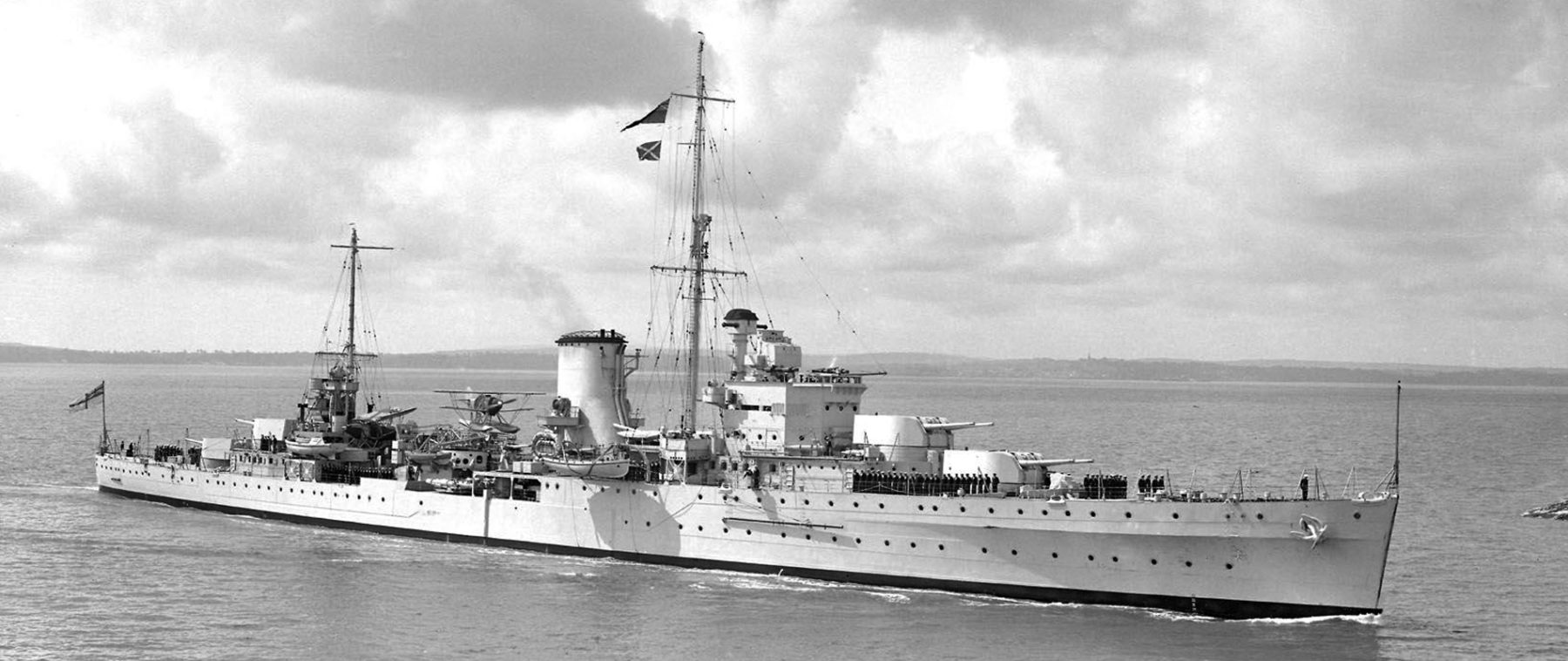 HMS Ajax before the war, circa 1936