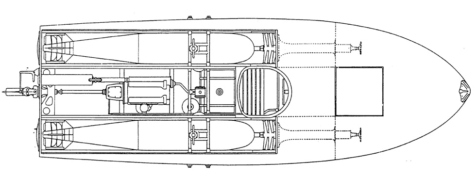 MTS boat top view