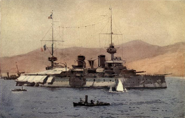 Suffren in the Dardanelles, painting