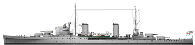 HD Rendition of the HMAS Sydney in 1935
