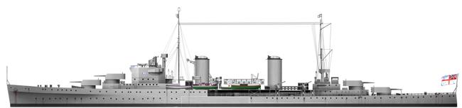 HD Rendition of the HMAS Sydney in 1935