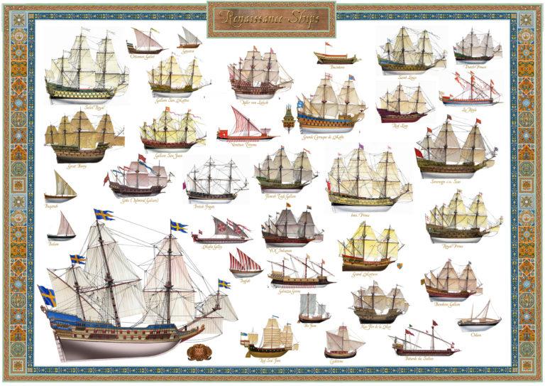 Renaissance ships posters