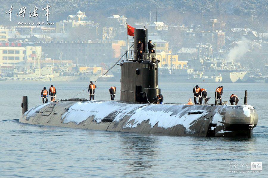 Ming class submarine in winter
