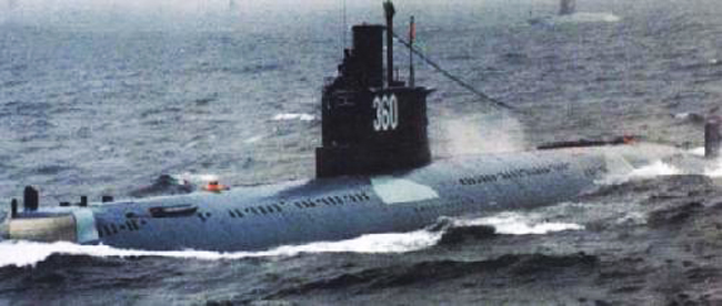 Ming class Type 035 at sea