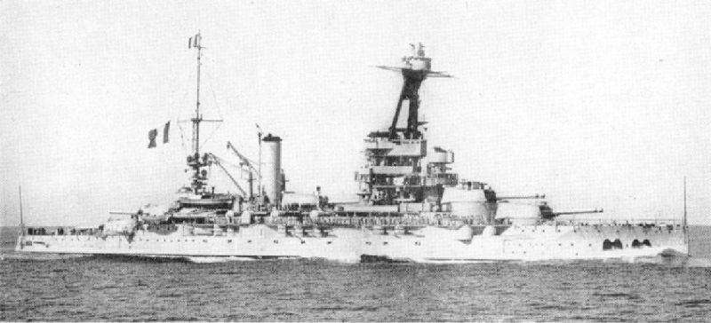 The Battleship Provence in 1935