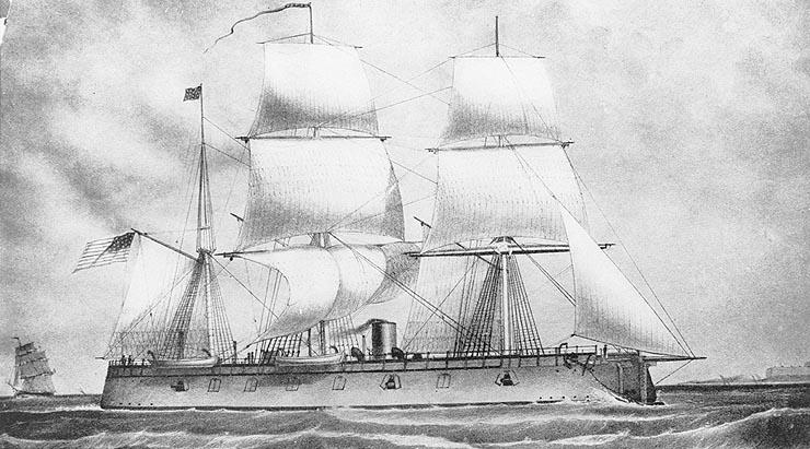 USS New ironsides 1862