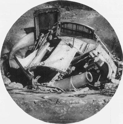 Bismarck battery devastated by Japanese fire