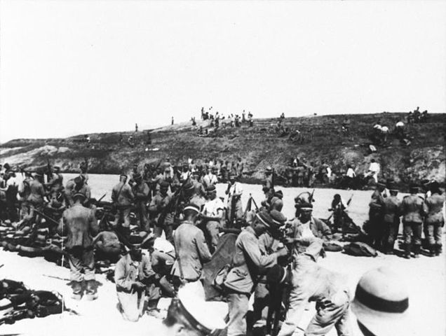 German front line at Tsingtao 1914