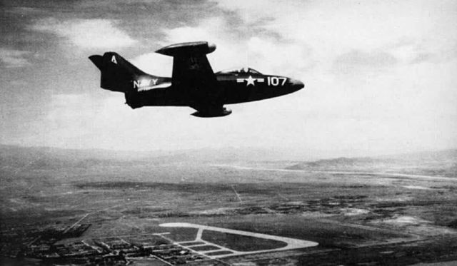 F9F-2 VF-721 over Yonpo air base