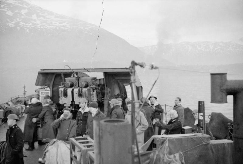 hms cairo in Narvik