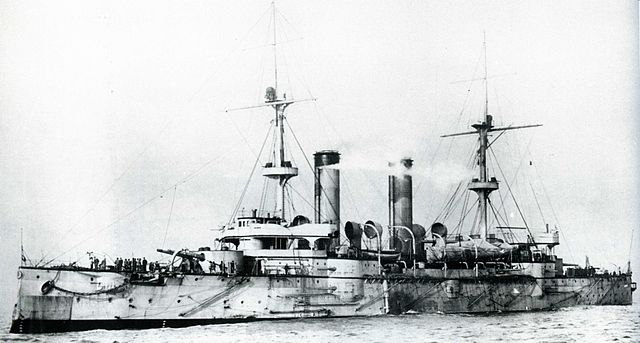 IJN Asama after completion in 1900