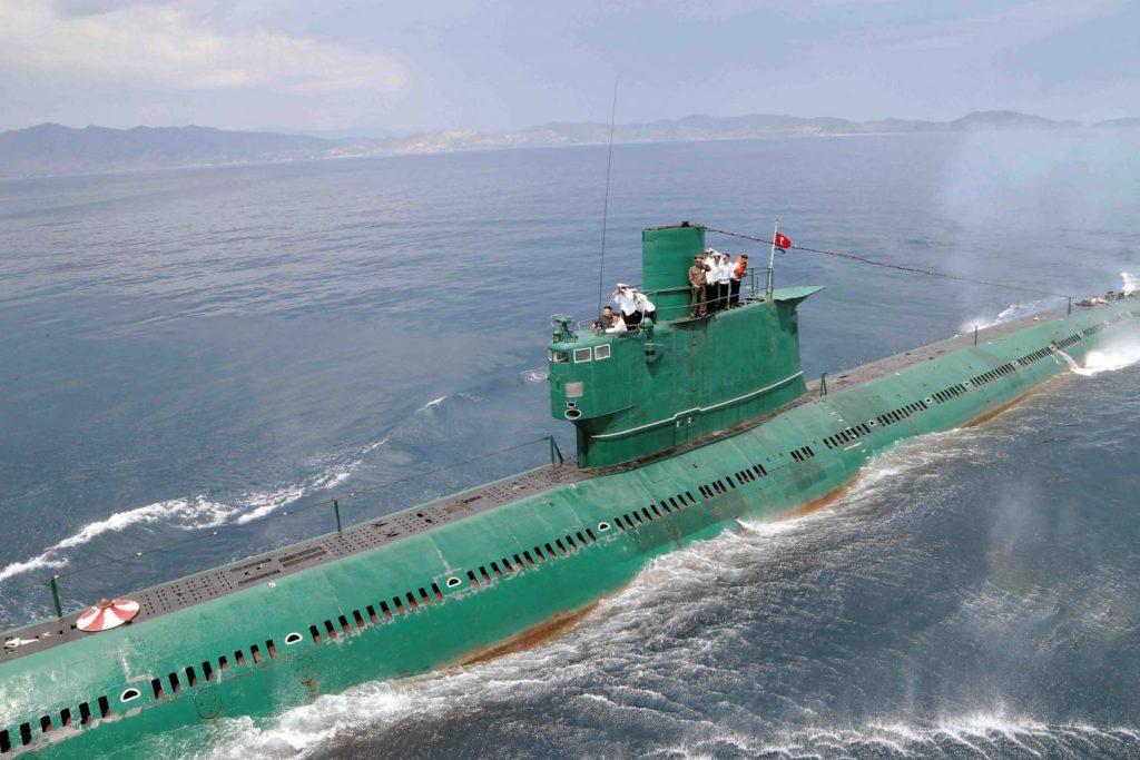 Kim Jon-Il onboard a Romeo class sub