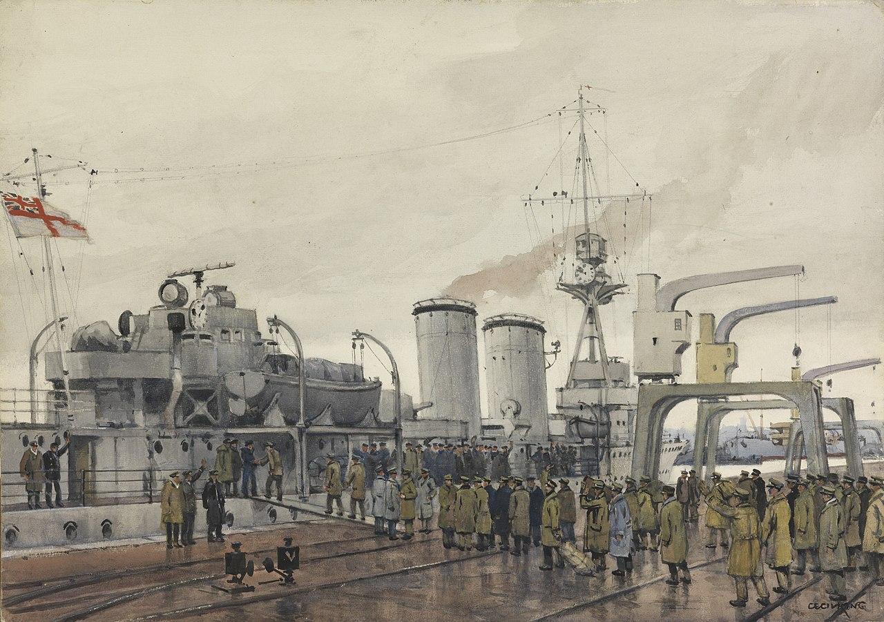 British POW boarding Concord 1919 in Stettin