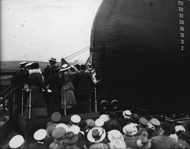 Christening and Launch ceremony of HMS Rio de Janeiro