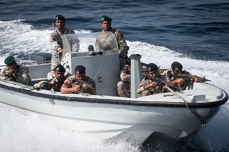 Ships during the Velayat 94 naval exercises