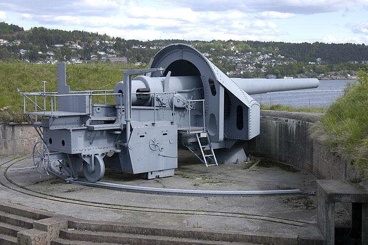 28 cm gun at Oscarborg