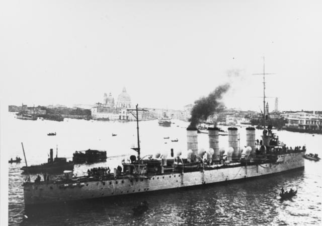 SMS Admiral Spaun in Venice in 1919