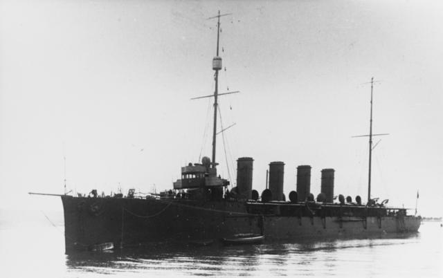 Admiral Spaun at anchor