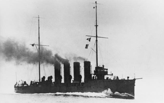 SMS Admiral Spaun underway