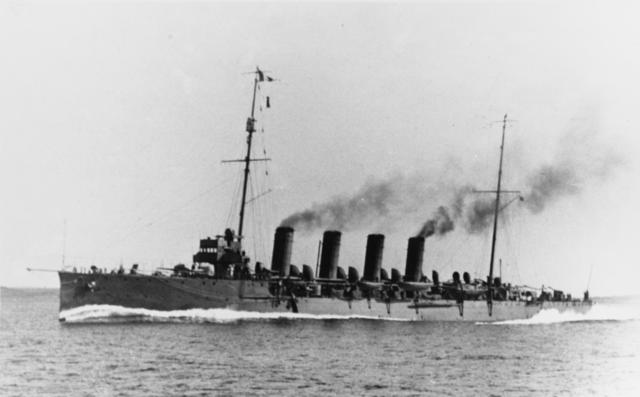 Admiral Spaun underway, during the war