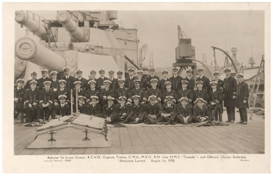 Almirante latorre and officers