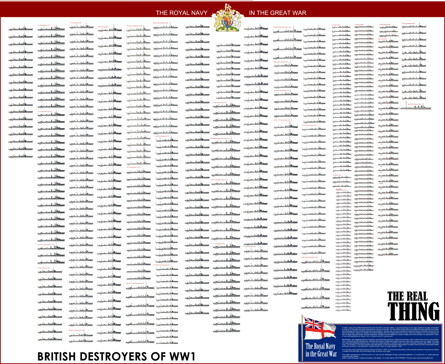 HD Poster British Destroyers