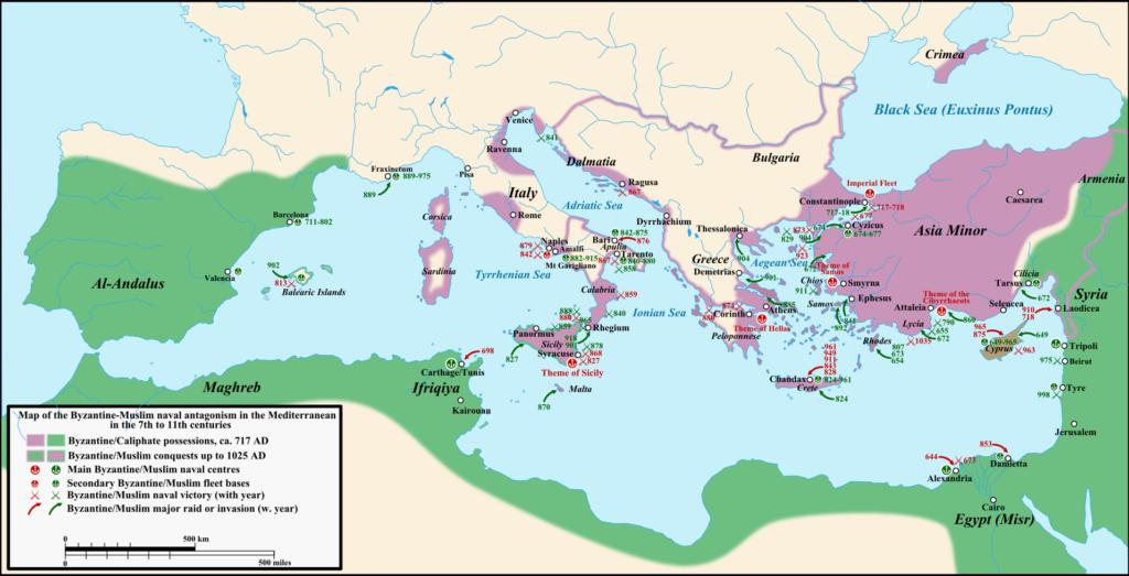 Byzantine-Arab naval struggle