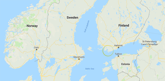 Finland and position of Hanko