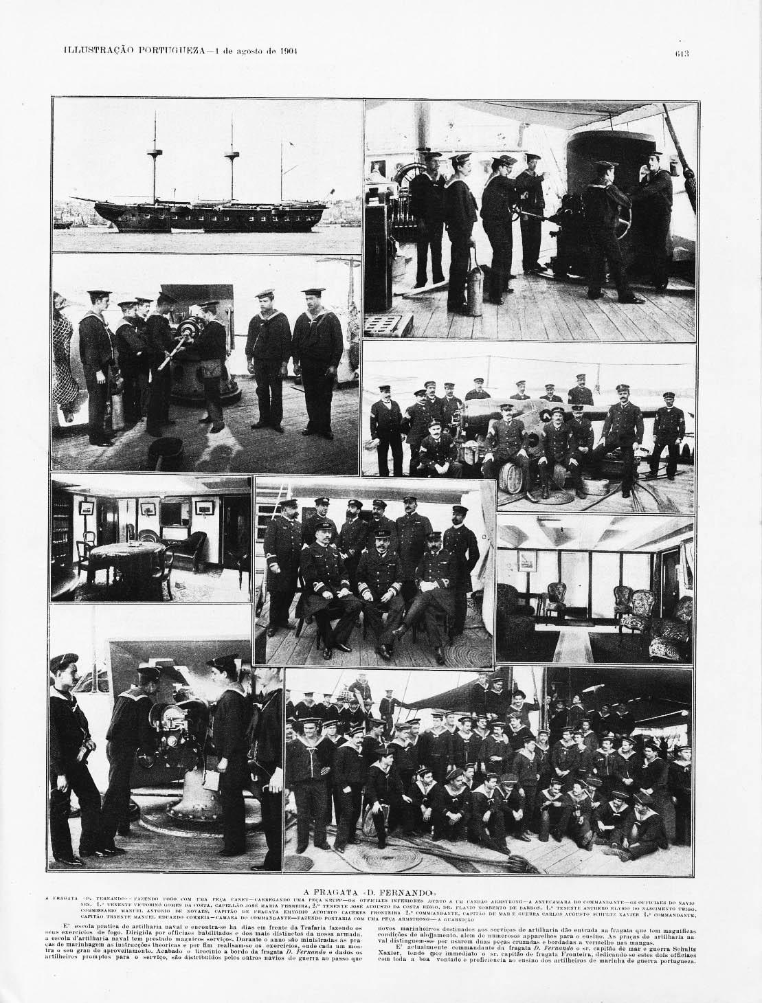 Dom Ferdinand as an artillery schoolship 1904