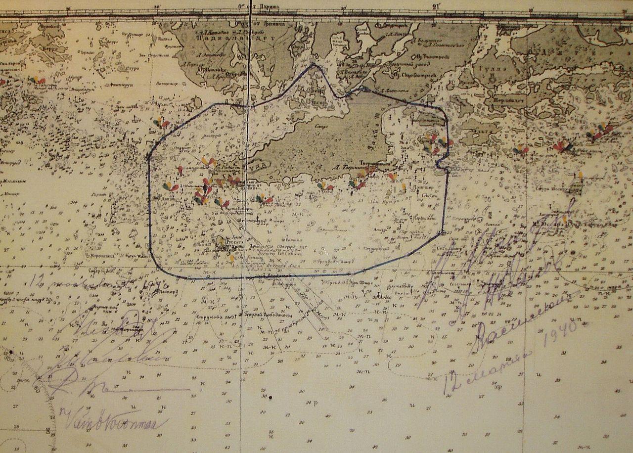 Map of the Hanko peninsula and archipelago