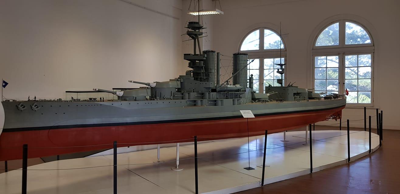 Model of the Battleship Almirante Latorre at the Valparaiso Museum