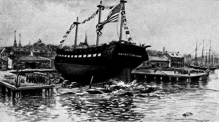 launch of uss constitution