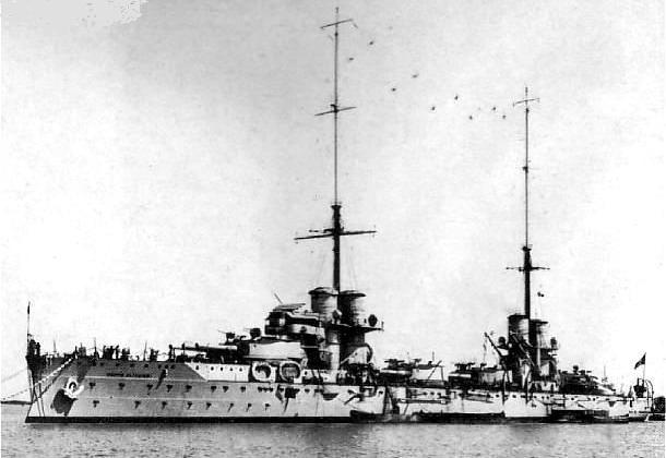 Dante Alighieri as built, 1914